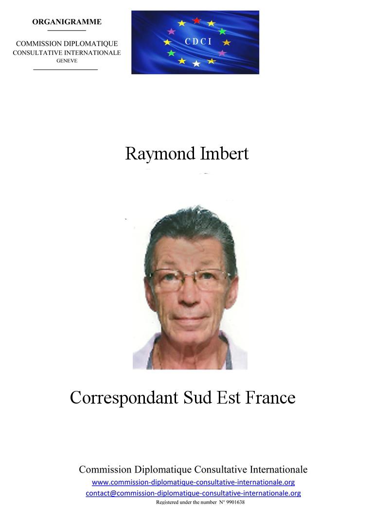 Raymond IMBERT organigramme